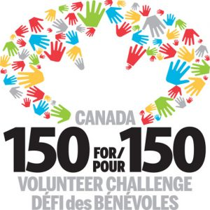 Logo for Canada150for150 Volunteer Challenge