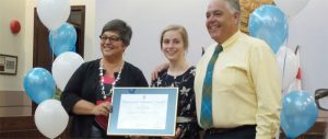 2016 Volunteer Award winner