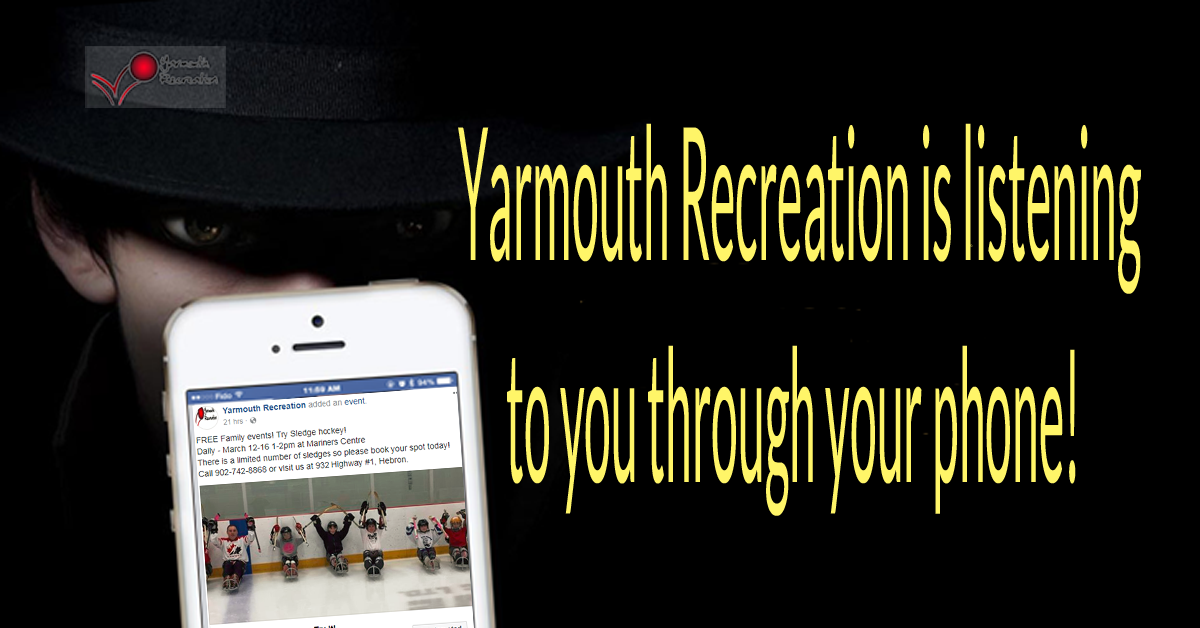 Yarmouth recreation is listening through phone