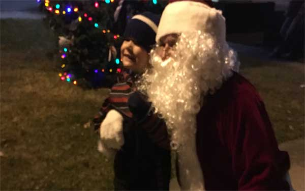 Little ones (and big ones!) can't wait to say hi to Santa.