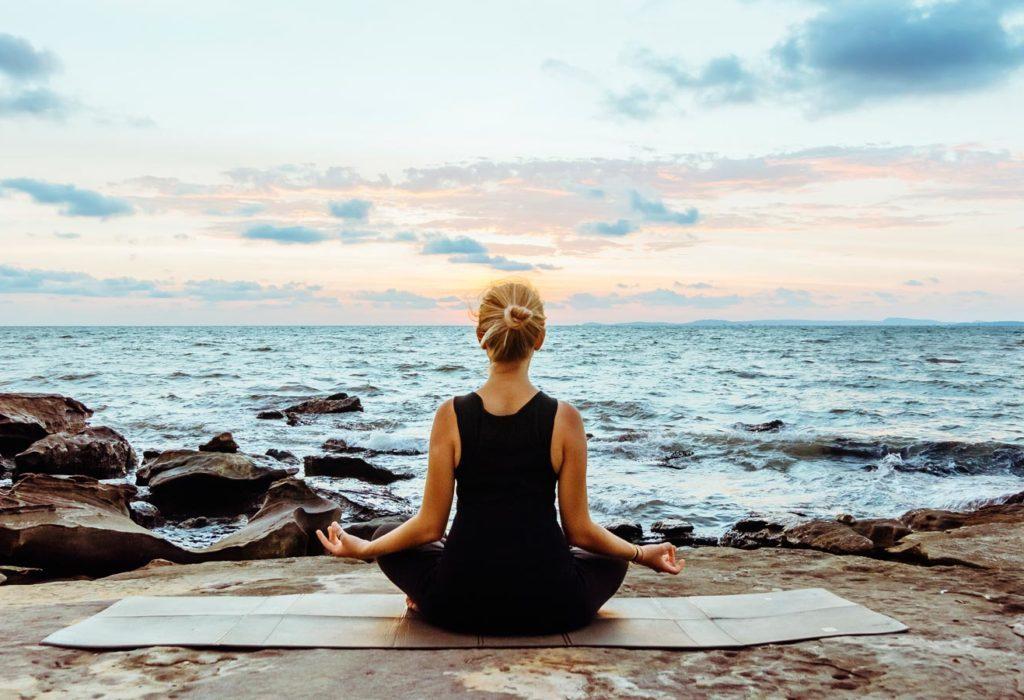 Yoga at the shore
