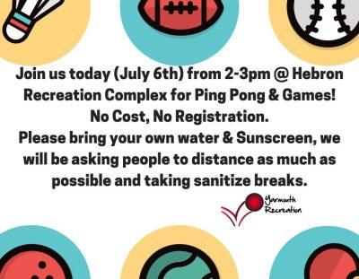 Ping Pong & Games Popup