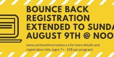 Bounce Back Registration Extended!