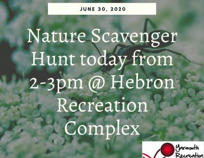 June 30 – Popup Nature Scavenger Hunt